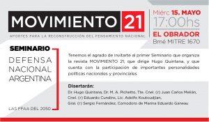 INVITACIÓN   SEMINARIO DE DEFENSA NACIONAL
